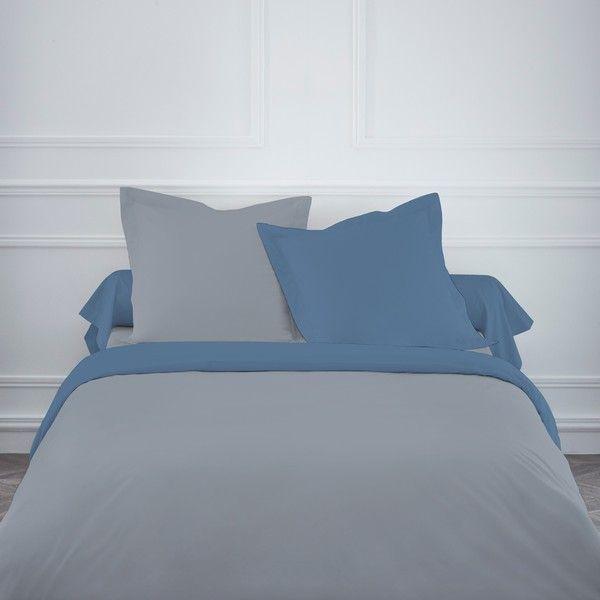 Parure-de-lit-coton-220x240-cm-Today-Mawira-Unis-Gris-Bleu