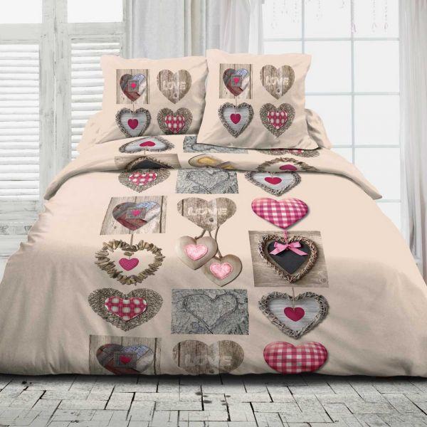 Parure de couette coton Heart Heart Heart a76ccf
